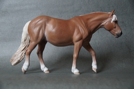 Anya resin, scale 1:9, painted to a palomino in 2015