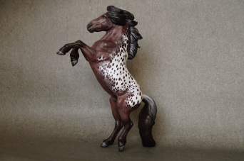 Harlequin resin, scale 1:10, painted to an appaloosa in 2020