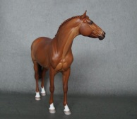 Tolstoi resin, scale 1:10, painted in 2021 to a chestnut