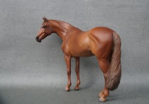 Vincent resin, scale 1:10, painted in 2021 to a chestnut